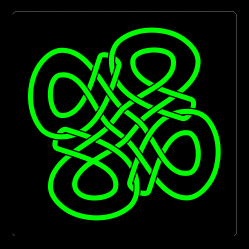 Celtic knot, 27kB